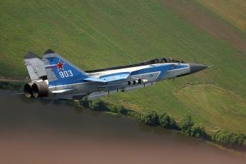 Картинка миг 31е авиация боевые самолёты истребитель небо полет