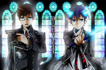 обоя аниме, ao no exorcist, братья