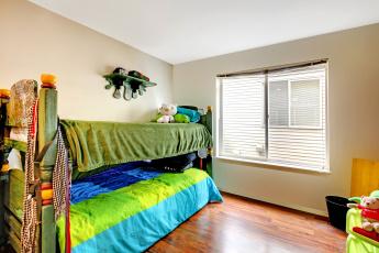 обоя интерьер, детская комната, детская, кровать, игрушки