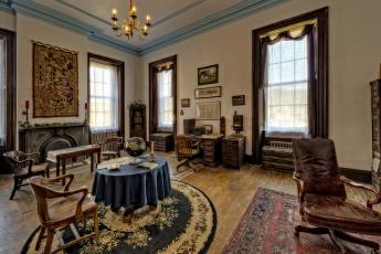 Картинка интерьер кабинет +библиотека +офис мебель комната