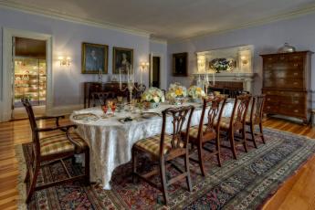 обоя интерьер, столовая, мебель, комната