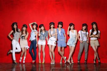 обоя музыка, girls generation , snsd, девушки, взгляд, фон, улыбки, girls, generation, kpop