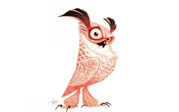обоя рисованное, минимализм, pose, piercing, look, drawing, owl