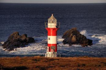 Картинка green point lighthouse port de grave newfoundland and labrador canada природа маяки скалы побережье атлантический океан канада ньюфаундленд и лабрадор atlantic ocean