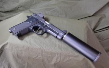 обоя оружие, пистолеты, глушителемглушители, глушак