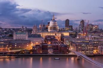 обоя st,  paul`s cathedral, города, лондон , великобритания, панорама, собор