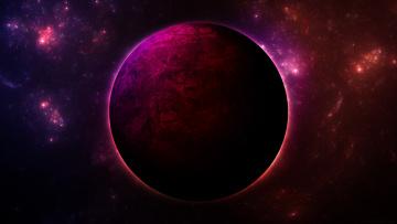 Картинка космос арт планеты звезда