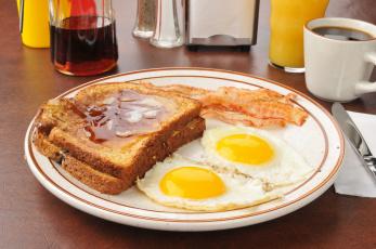 Картинка еда Яичные+блюда кофе бутерброд яичница