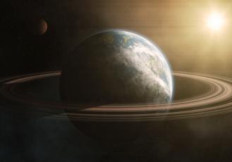 Картинка космос арт вселенная планеты звезды галактика