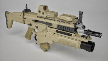обоя оружие, автоматы, fn, scar, folding, butt, grenade, launcher, cal, 7, 62, m17, model, art, in, weapon, form, herstal, belgium, rifle, eo, tech, assault, gun, ordnance