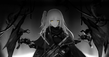 обоя аниме, girls frontline, девушка