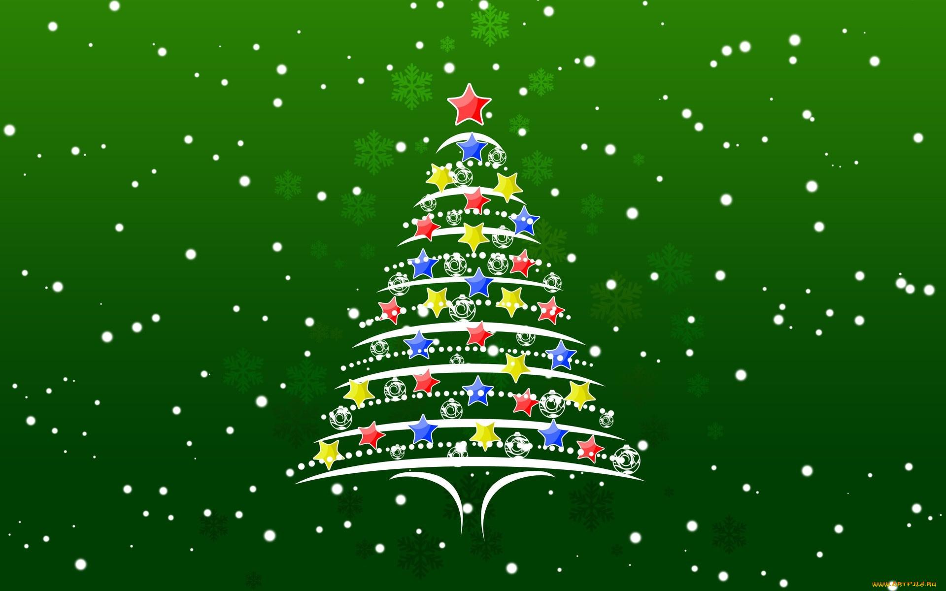 Строение, картинка новогодней елки на открытке