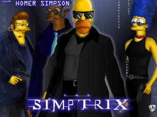обоя matrix, мультфильмы, the, simpsons