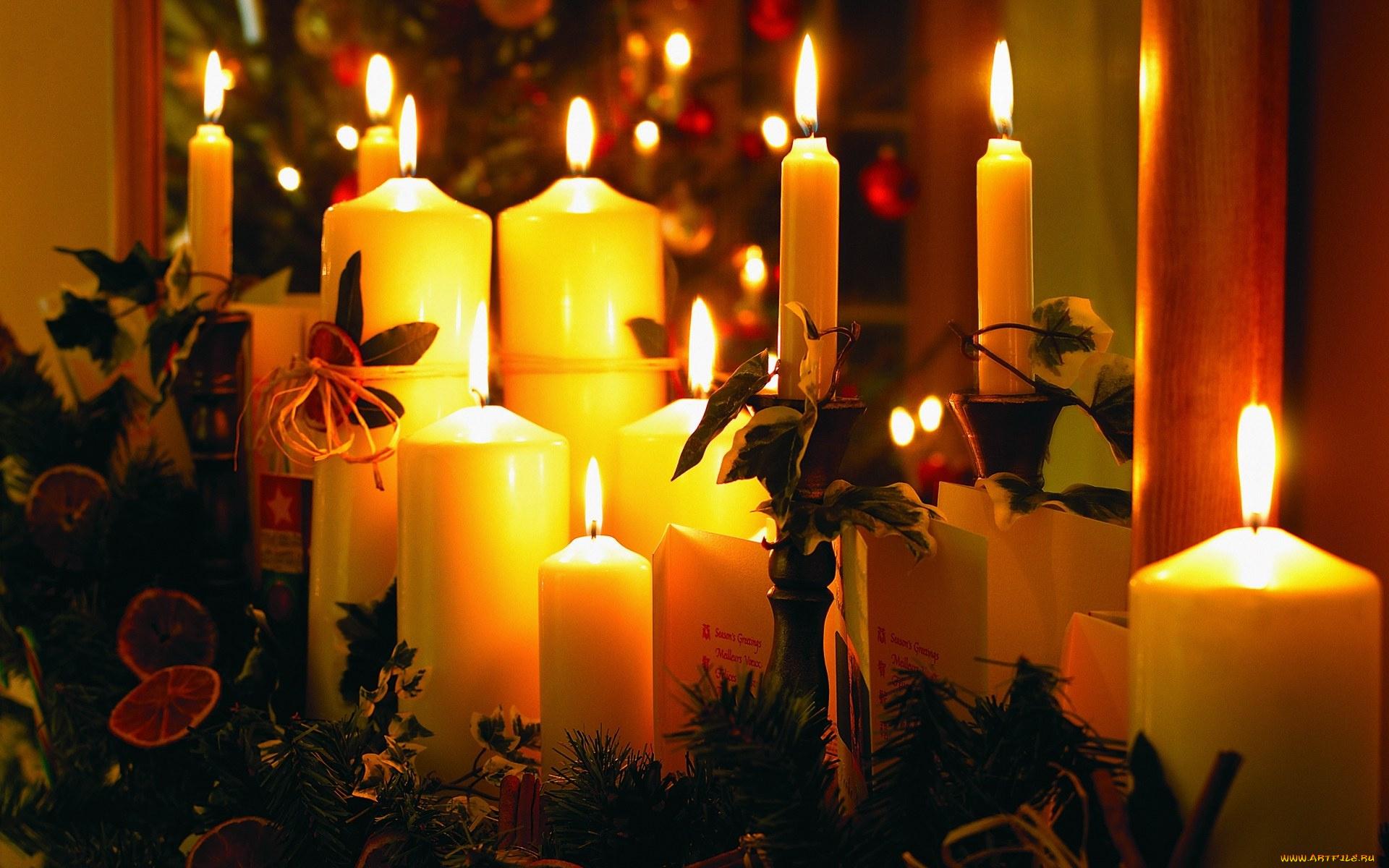 Уголками природы, картинка со свечами праздник