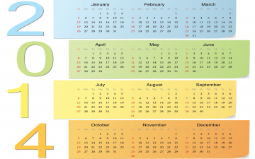 обоя календари, -другое, календарь, 2014