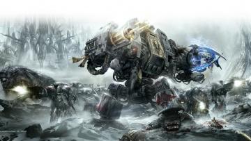 обоя видео игры, warhammer 40, 000,  dark millenium online, роботы, оружие, скафандры, война