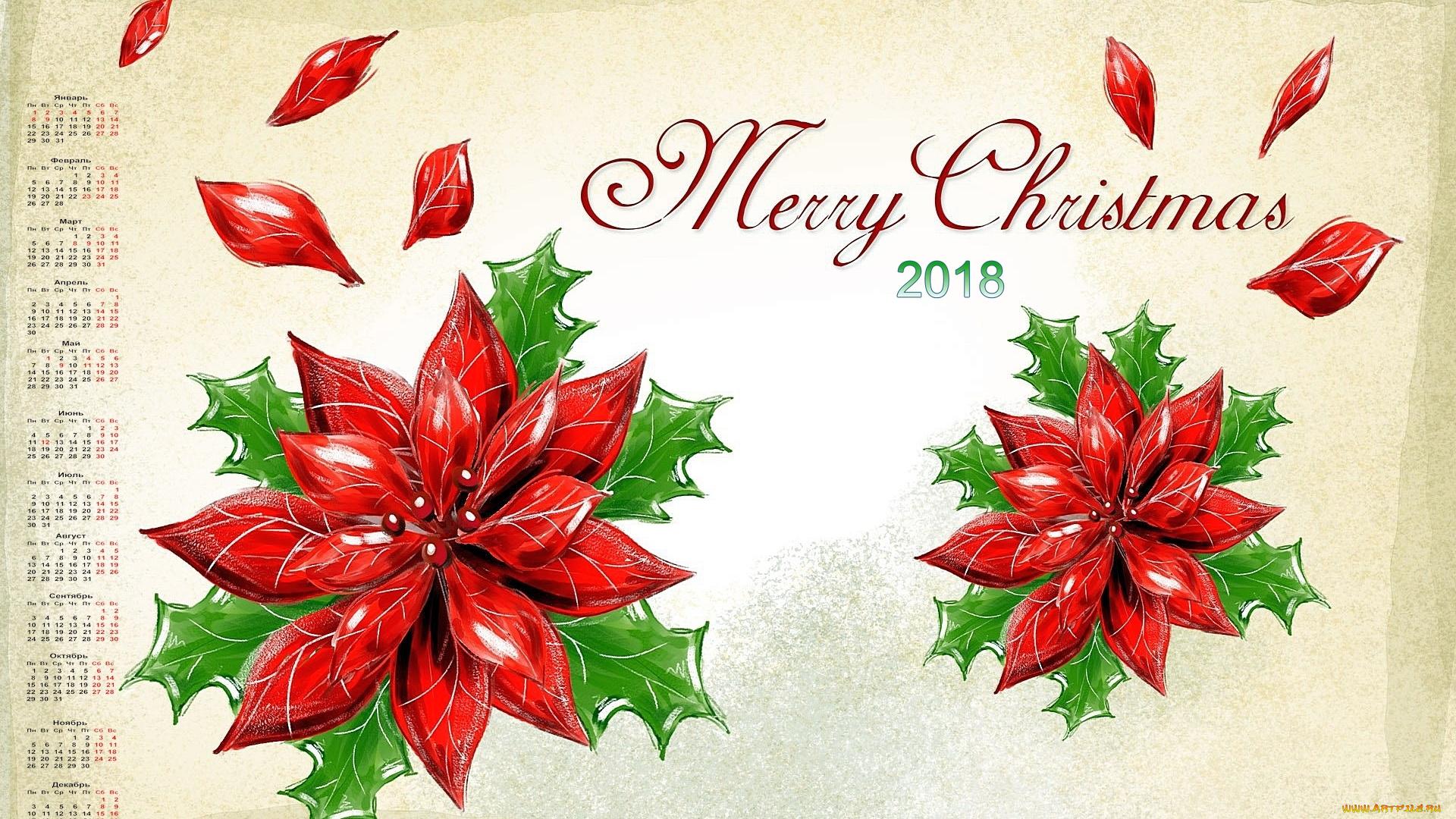 Рождественские открытки с цветами, 95-летием мужчине открытка