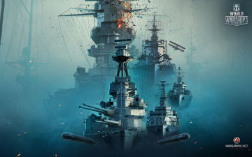 обоя видео игры, world of warships, онлайн, action, симулятор, world, of, warships