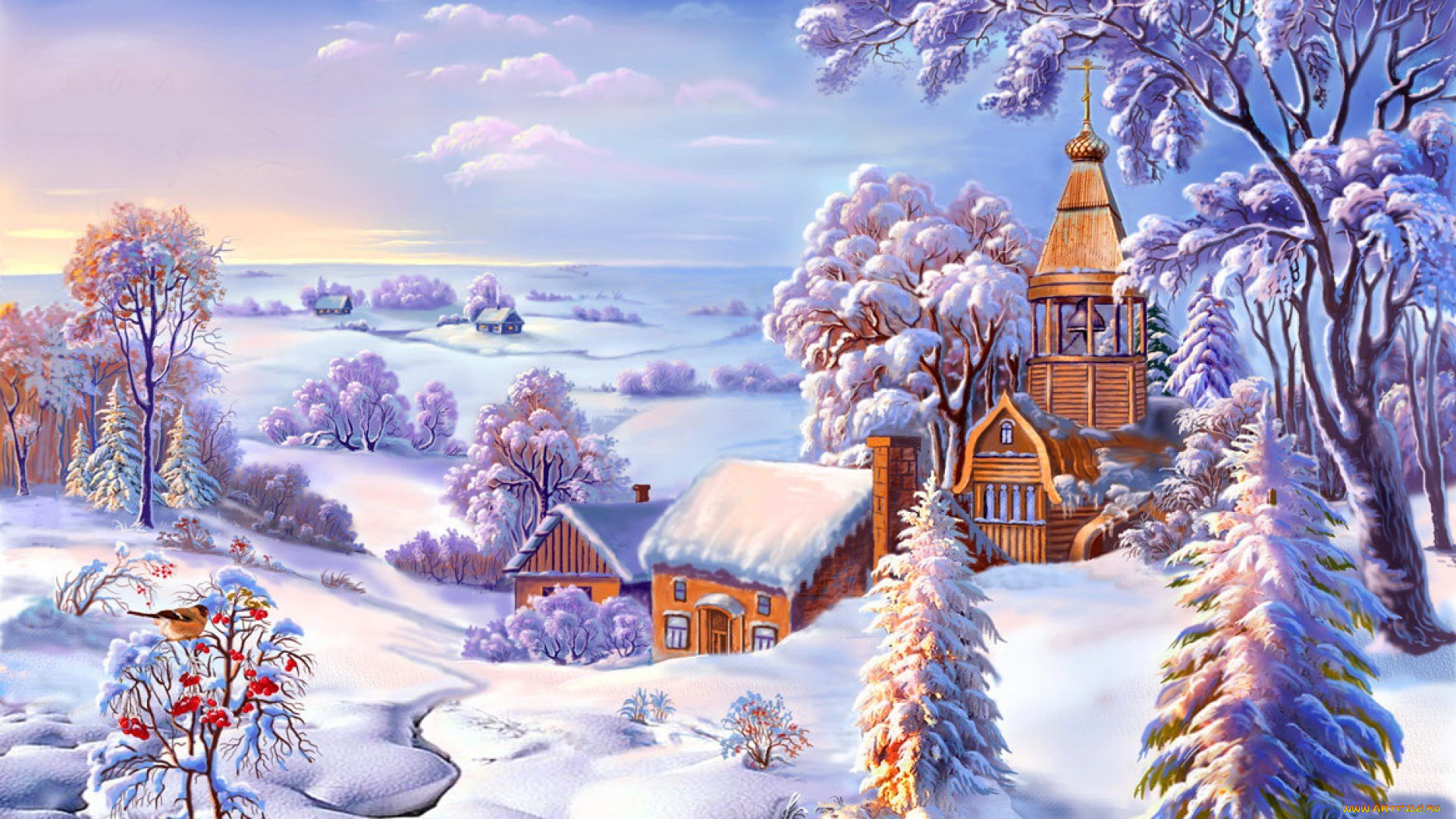 Зима картинки рисунок