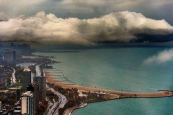 Картинка города Чикаго сша побережье