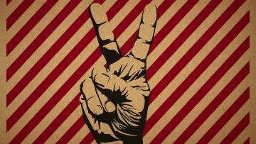 Картинка рисованное минимализм жест мир рука