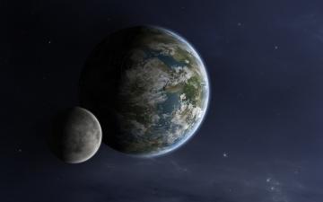 обоя космос, арт, планеты, звезды, вселенная