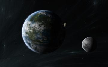 обоя космос, земля, вселенная, планеты, звезды