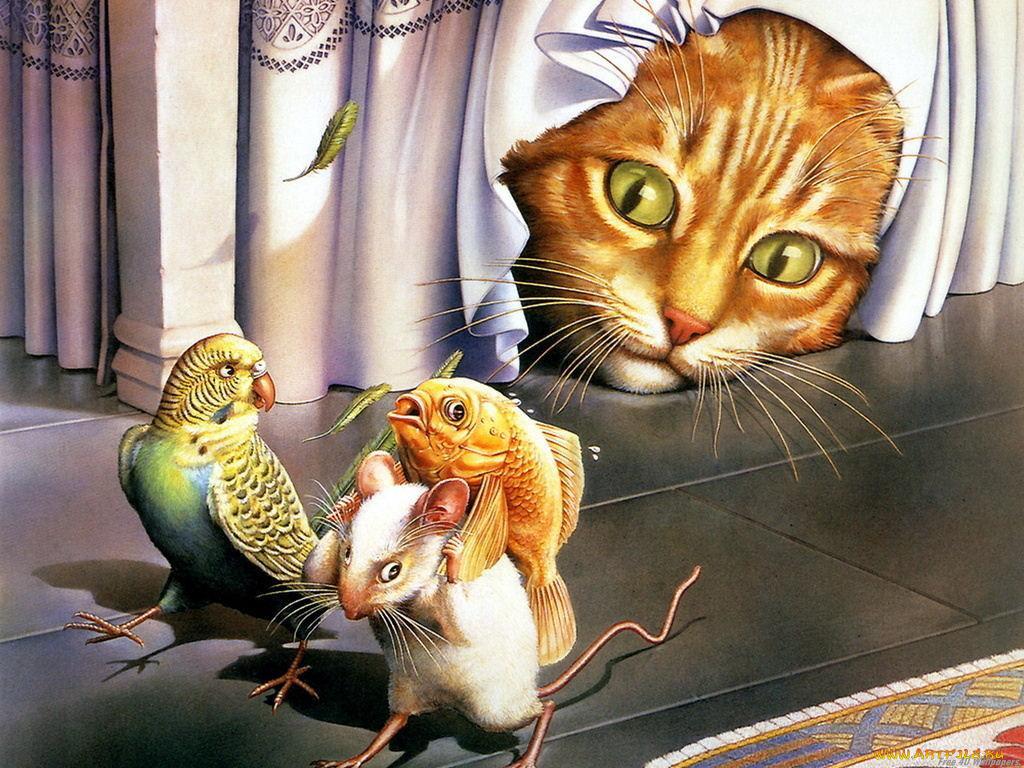 Картинки день, нарисованные животные с надписями