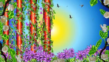 природа цветы графика nature flowers graphics бесплатно