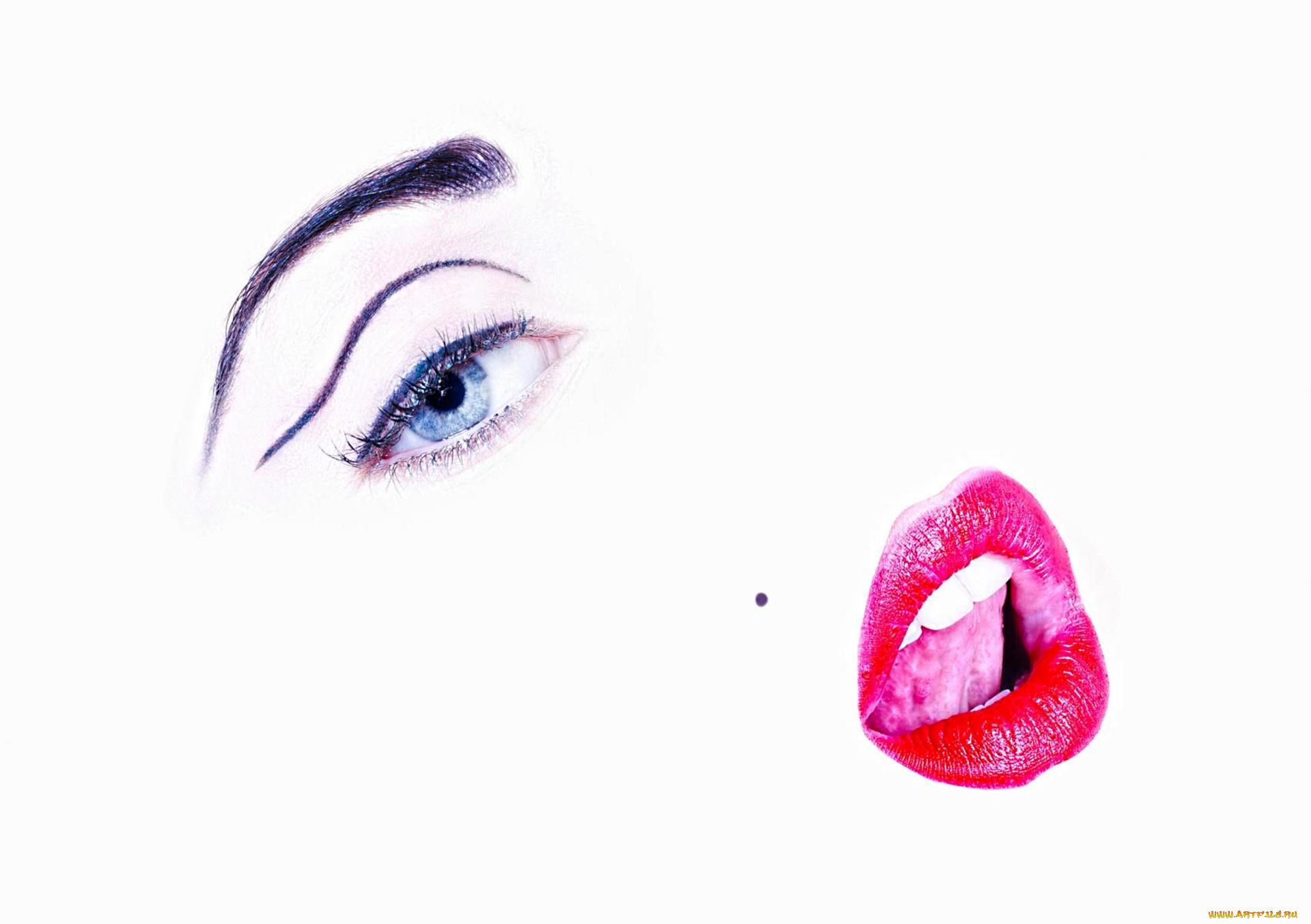 Открыток, открытки губы глаза