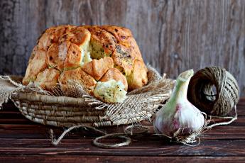 Картинка еда хлеб +выпечка чеснок выпечка