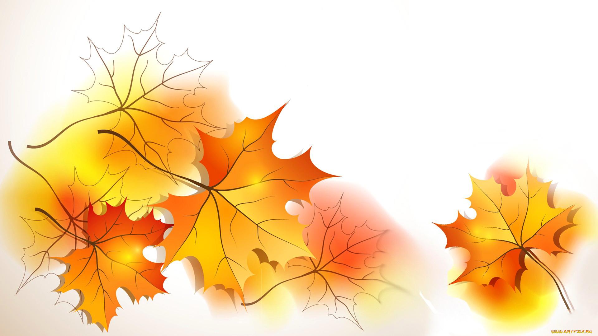Открытки осенние листья, прикольные картинки