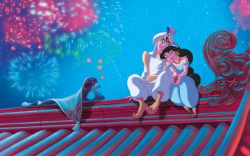 обоя мультфильмы, aladdin, дом, ковер, принцесса
