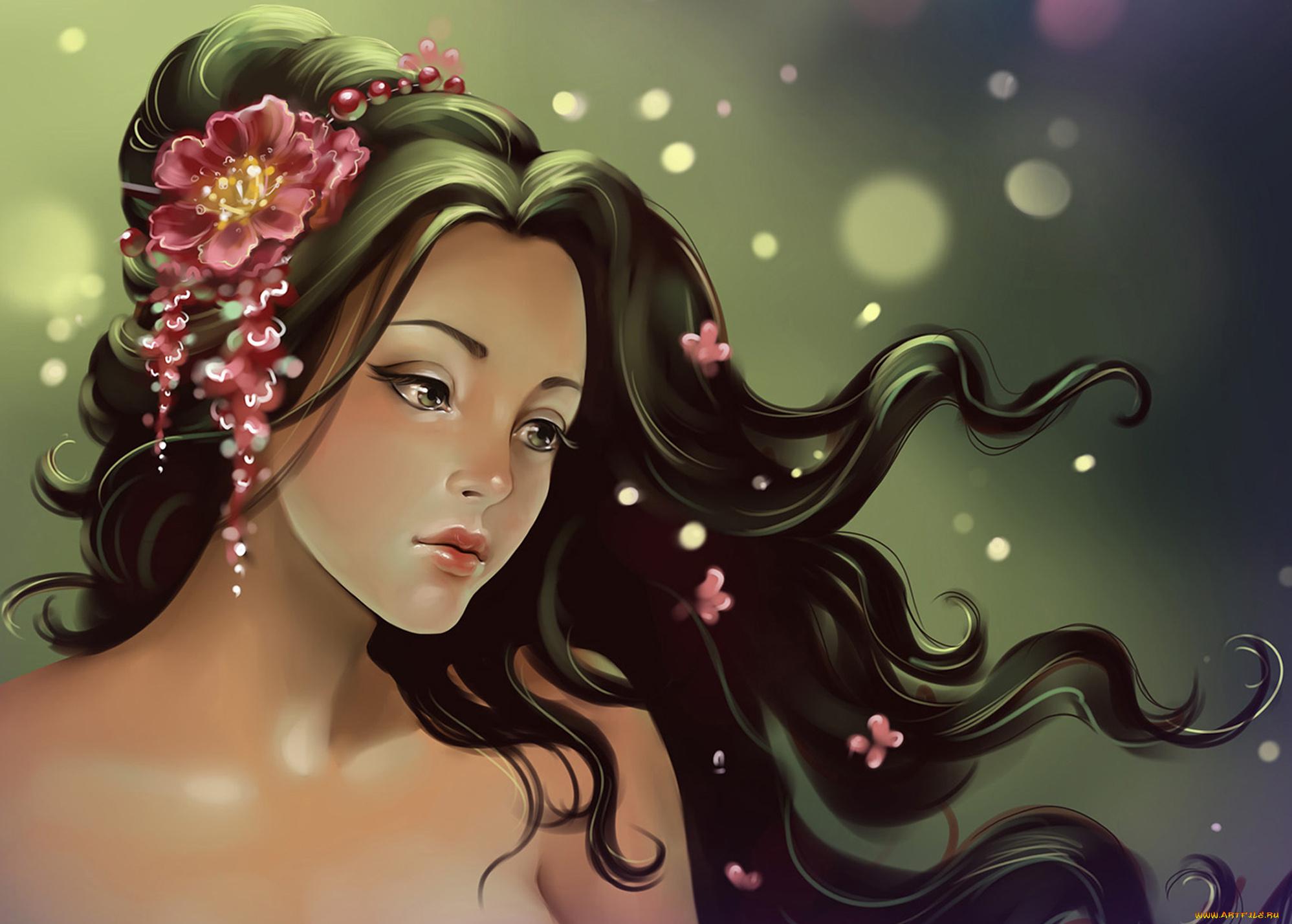 Раскладной открытки, красивая девушка картинки нарисованные