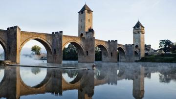 обоя города, - мосты, франция, каор, старинный, мост, валантре