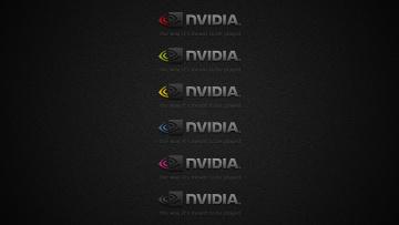 обоя компьютеры, nvidia, фон, логотип