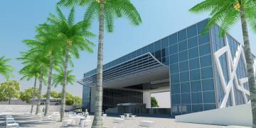 Картинка 3д+графика архитектура+ architecture небо пальмы дом