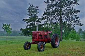 Картинка техника тракторы трава трактор