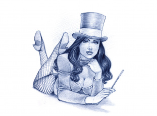 Картинка рисованное люди фон девушка палочка цилиндр взгляд