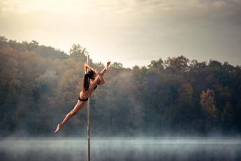 обоя спорт, гимнастика, chris, silya, акробатика, танец, шест