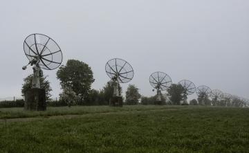 обоя космос, разное, другое, туман, поле, антены