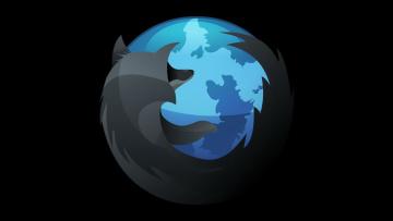 обоя компьютеры, mozilla firefox, логотип, фон
