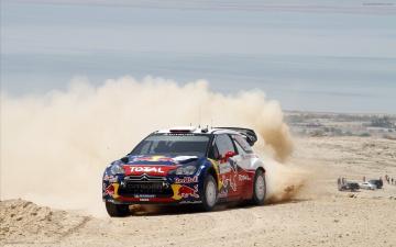 Картинка спорт авторалли песок пустыня пыль рали