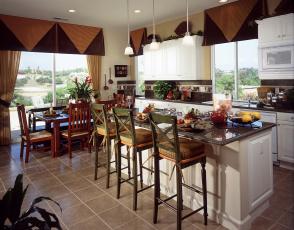Картинка интерьер кухня плита мебель дизайн