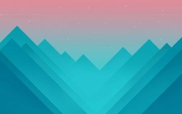 Картинка векторная+графика графика+ graphics звезды небо горы треугольники