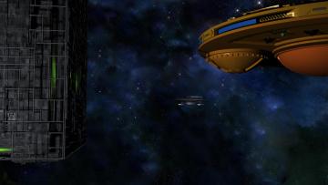 Картинка космос арт космический корабль