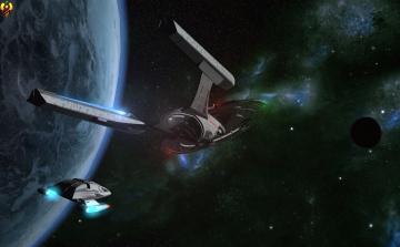 Картинка космос арт космический корабль полет вселенная планета