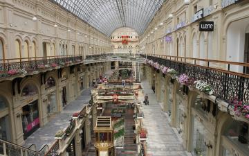 обоя интерьер, казино,  торгово-развлекательные центры, торговля, гум, москва