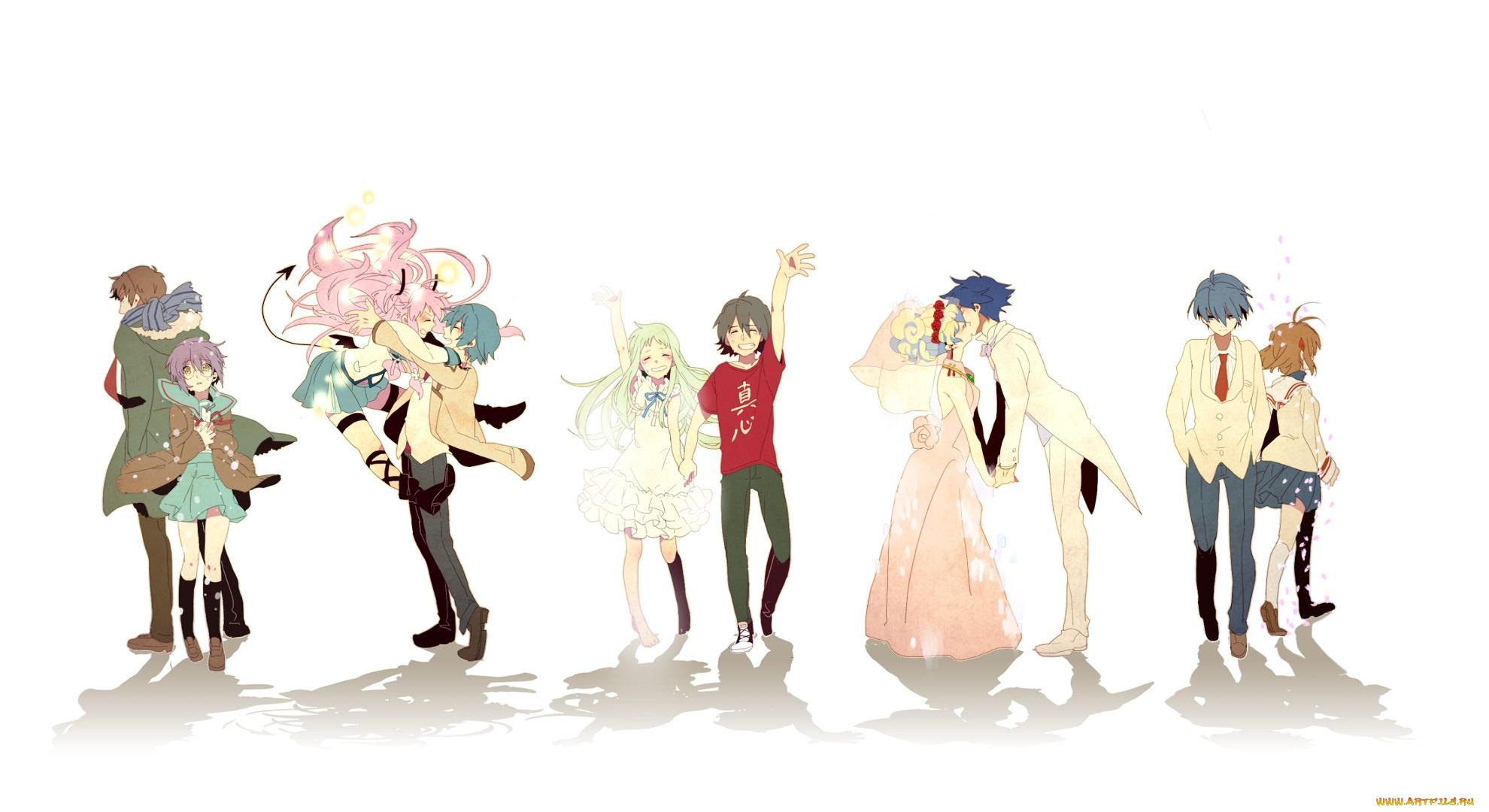 Прикольные картинки аниме девушек и парней