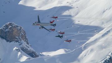 Картинка авиация разные+вместе снег